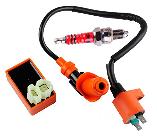 podoy gy6 cdi ignition coil racing spark plug for 50cc. Black Bedroom Furniture Sets. Home Design Ideas