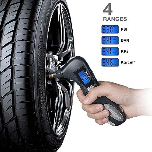 Digital Tire Pressure Gauge Lantoo 150psi With 5 In 1